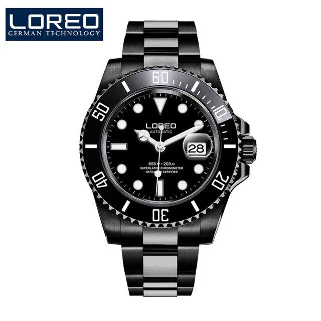 Hommes mécanique montre automatique Date mode luxe marque saphir plongeur étanche horloge mâle lumineux montres - 3