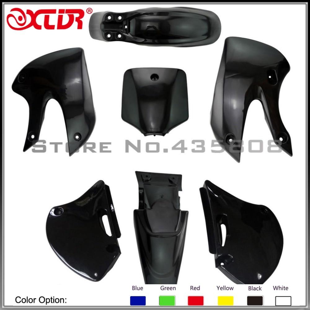 BBR Plastic Fender KITS cover full set FRONT TWO SAME AS KLX110 for MOTORCYCLE dirt bike