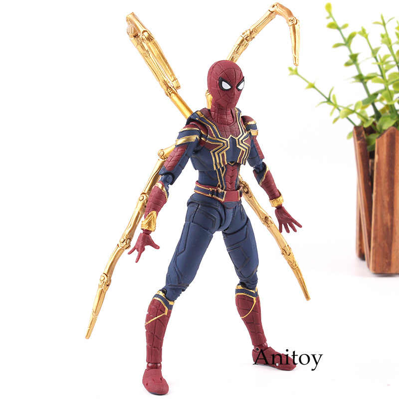 Figuarts SHF Action Figure Giocattoli Marvel the Avengers 3 Infinity Guerra Iron Spider PVC Marvel Legends Spiderman Collection Model Toy