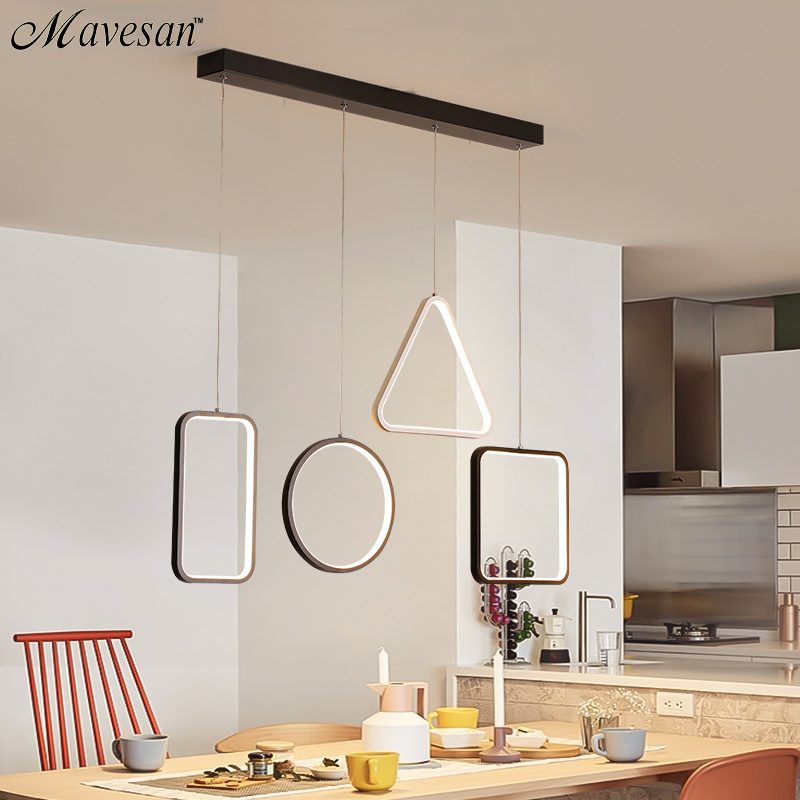Modern LED Simple Pendant Lights For Living Room Kitchen Dining room Lustre Pendant Lamp Hanging Ceiling Fixtures modern led simple pendant lights for living room cristal lustre square pendant lamp hanging ceiling fixtures zdd0070