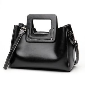 Image 4 - Винтажные женские сумки из натуральной кожи с широкими лямками, сумка через плечо, маленькая стильная дамская сумочка на ремне
