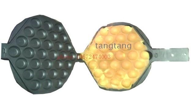 Free shipping 1 Pair 2 pcs Non-Stick Hong Kong Egg Waffle Pan Egg Waffle Plates Waffle Iron