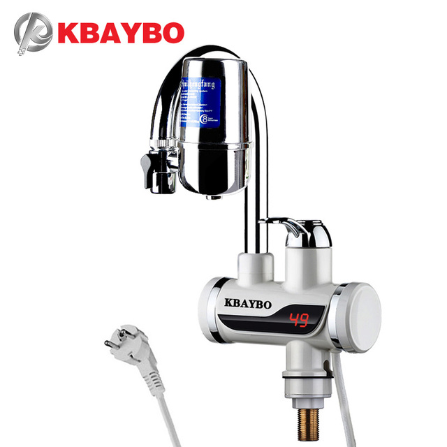 3000W Instant Electric Water Heater Tap Kitchen Faucet Water Filter 2 Kinds  Of Outlet Mode Can