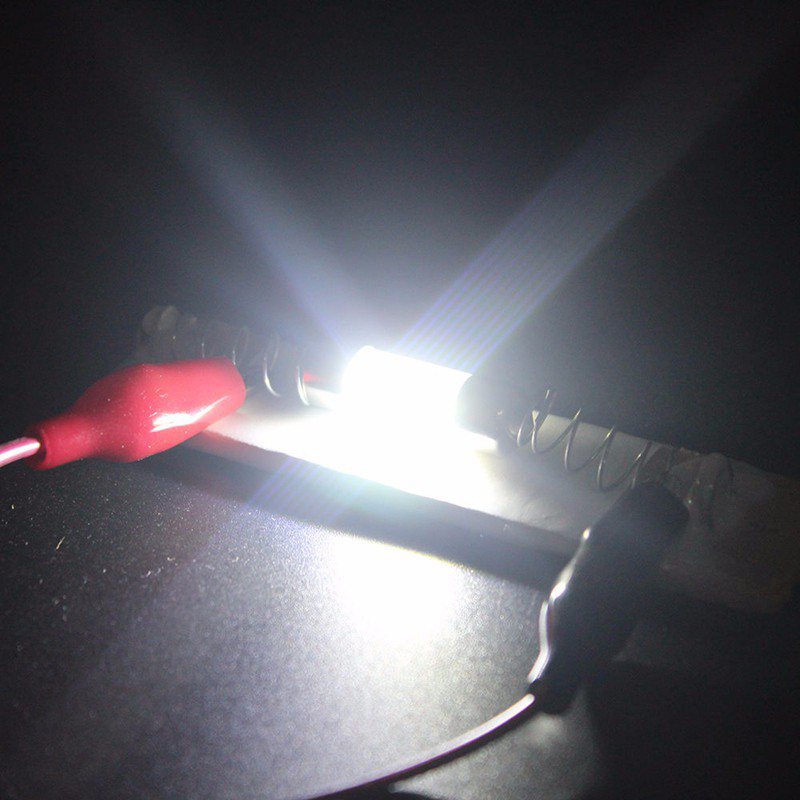 Auto led dubbele-puntige licht 31/36/39/41 MM COB lichtbron lezen filament dubbele -tip mouw