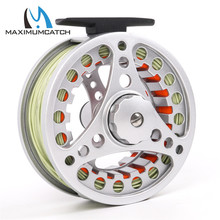 Maximumcatch Fly Reel and Line Combo 7/8wt Silver Fly Reel Orange Backing Line Moss Green Fly Line Set Item