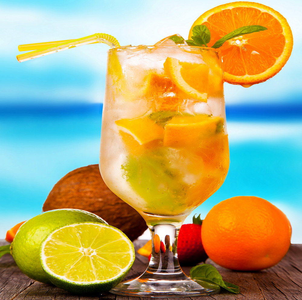 3 Panels Drinks Juice Orange paintings for the kitchen fruit wall ...