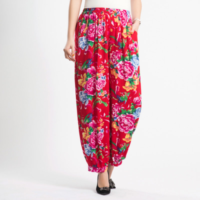 f65956e2a Spring and summer middle and old aged new women's national wind square  dance pants high waist loose large size bloomers JQ108 -in Pants & Capris  from ...