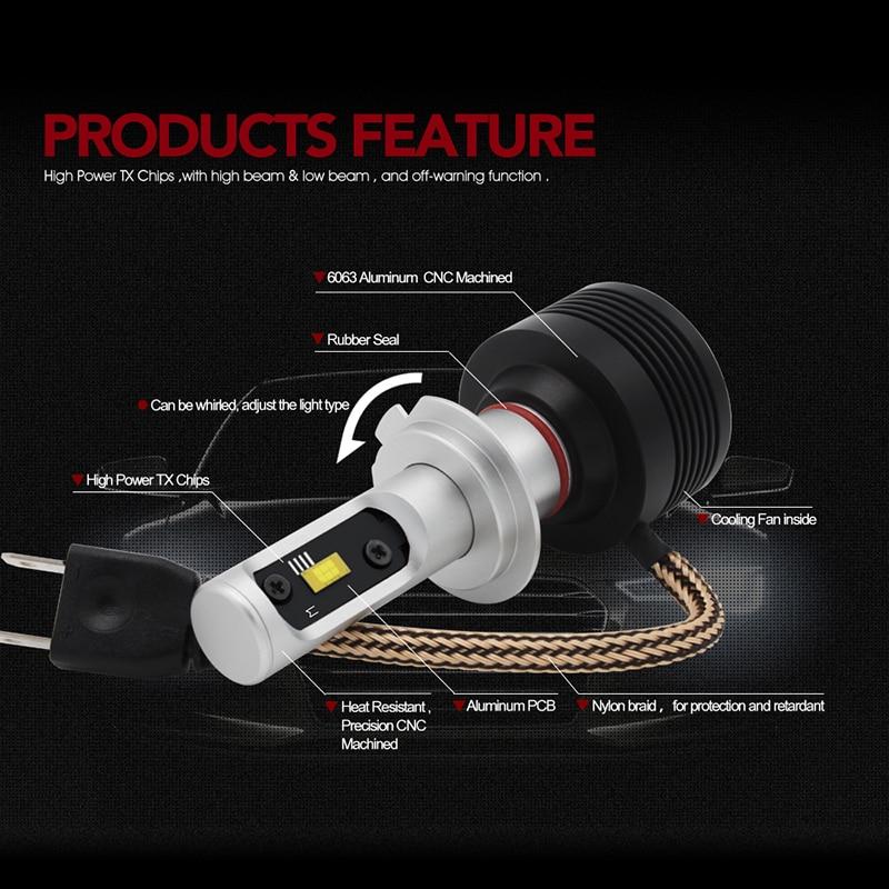 SUNKIA H8 H11 Mobil LED Headlight Konversi Kit All-in-one Lampu - Lampu mobil - Foto 4