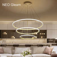 NEO brillo minimalismo moderno luz de la lámpara para Comedor Cocina y Bar lustres para sala de jantar colgante de Led de la lámpara de araña