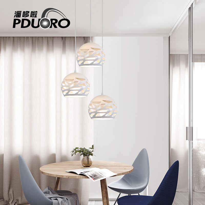 Modern Nordic Pendant lamps single-head mini-bar Pendant light for dining room/restaurant/Kitchen Ceiling Hanging Light fixture single head small bar of korean modern minimalist iron pendant lamps dining room pendant light the living room kitchen
