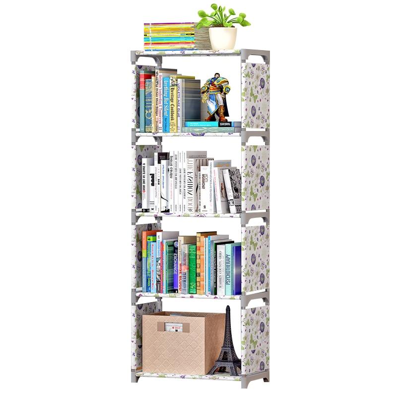 Simple Bookshelf Creative Storage Shelf For Books Plants Sundries DIY Combination Shelf Floor Standing Children Bookcase wall shelf for tea pots