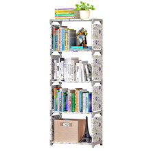Simple Bookshelf Creative Storage Shelf For Books Plants Sundries DIY Combination Shelf Floor Standing Children Bookcase(China)