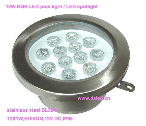 Free shipping by DHL !! IP68,good quality 12W underwater LED light,LED underwater light,12V DC, DS-10-56-12W,stainless steel free shipping by dhl ip68 stainless steel high power 9w led swimming pool light underwater led light ds 10 1 9w 3x3w 12v dc