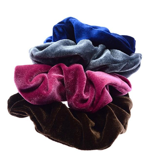 Luxury Elastic Hair Bands Soft Velvet Hair Scrunchie Ponytail Donut Grip Loop Holder Stretchy Hair Band Women Hair Accessories 1
