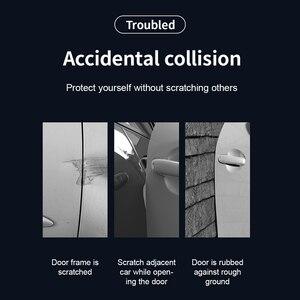 Image 2 - Baseus 4Pcs Universal Car Door Scratch Protector Car Phone Holder Door Edge Guard Sticker Bumper Protection Strip Anti Collision