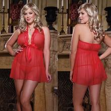 Plus Size 4XL sleepwear tempatation nightgown deep v-neck summer female sexy  nightwear  for women