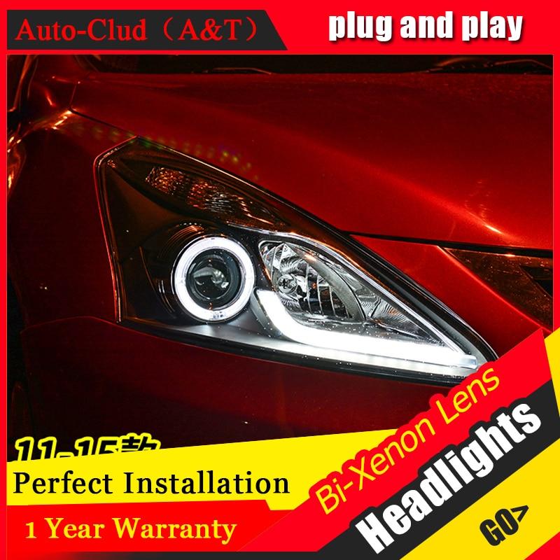 Car Styling For NISSAN TIIDA headlights 2011-2015 For TIIDA head lamp Angel eye led front light Bi-Xenon Lens xenon HID KIT letv leeco le2 pro x620 5 5inch helio x20 mtk6797 smartphone