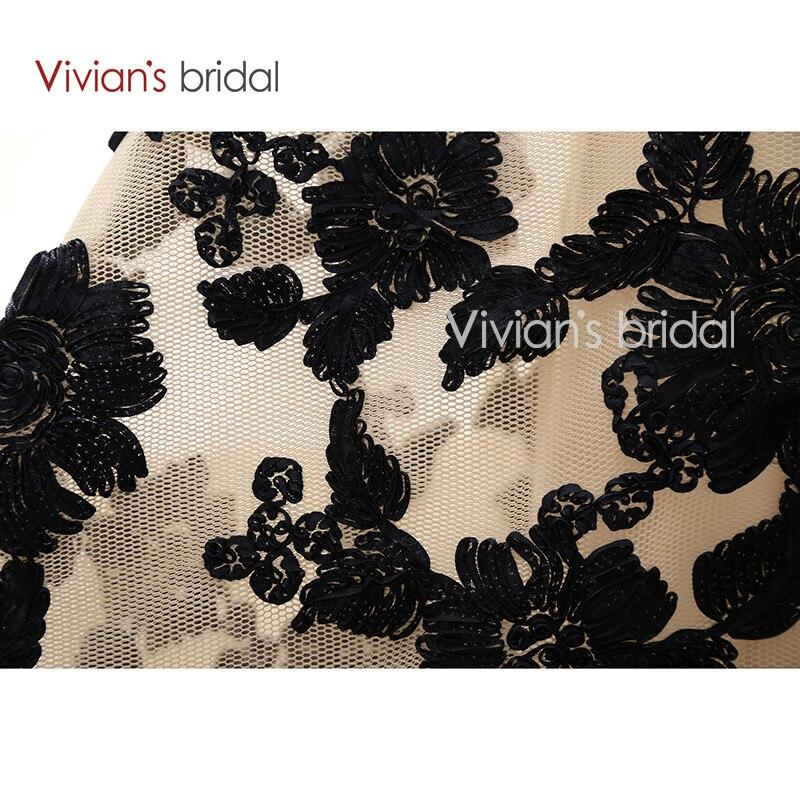 Vivian's Bridal Elegant A Line Evening Dresses Satin Floral Print Lace Long Formal Evening Gown Floor Length Women Party Dresses 15