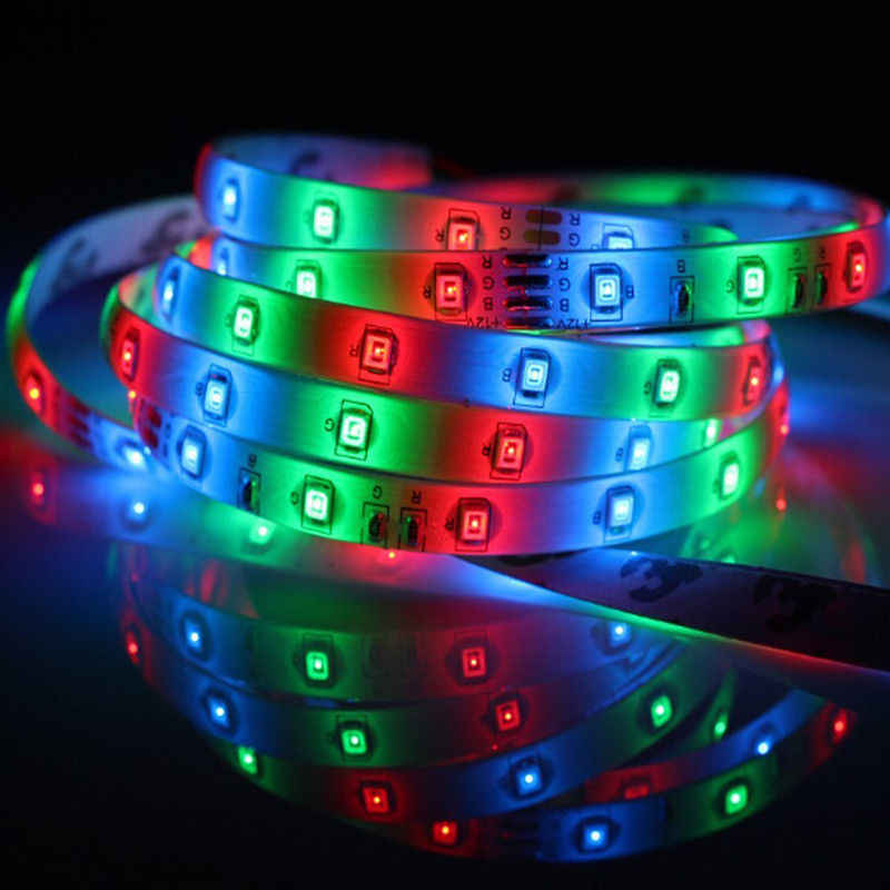 5 m 300 tira de luz LED rgb impermeable flexible de 2835 de 3528 SMD cinta cuerda de cálido blanco rojo verde azul lámpara de cinta de diodo