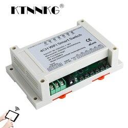 AC 110V 220V DC7 36V 4CH WiFi przełącznik inteligentny moduł przekaźnika czasowego wyłącznik zasilania z Ev1527 433MHz bezprzewodowe zdalne sterowanie RF|Moduły automatyki domowej|Elektronika użytkowa -