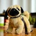 Фаршированные Плюшевые Игрушки Животные Моделирования Собака Детские Игрушки Рождественский Подарок Прекрасный Поводок Мопсов Куклы