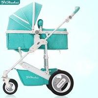 YIBAOLAI high landscape ultra light portable baby stroller luxury folding baby carriage 4 wheels shockproof newborn cart pram