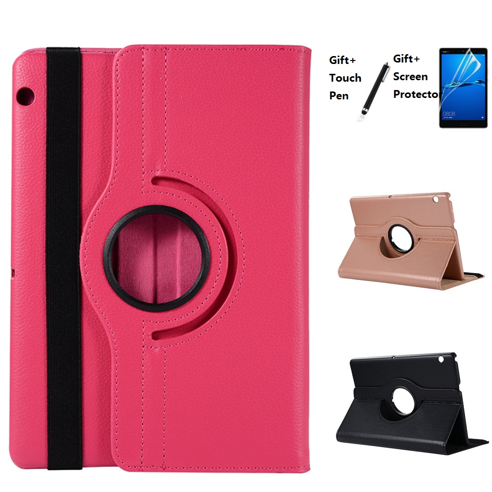 360 Rotating Case For Huawei MediaPad T3 10 AGS-W09 AGS-L09 AGS-L03 9.6 Tablet Funda Cover For Huawei T3 10 Honor Play Pad 2 9.6