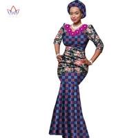 2017新しいファッション女性サマードレスアフリカエスニックスタイルの印刷ワックスドレスプラスサイズセクシーなロングパーティードレス用女性WY1426