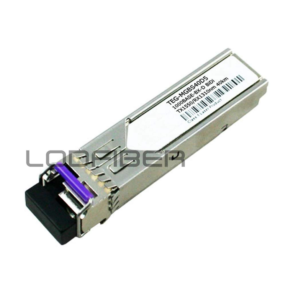 Lodfiber Teg-mgbs40d5 T-r-e-n-d-n-e-t Compatible 1000base-bx Bidi Sfp 1550nm-tx/1310nm-rx 40km Dom Transceiver Fiber Optic Equipments
