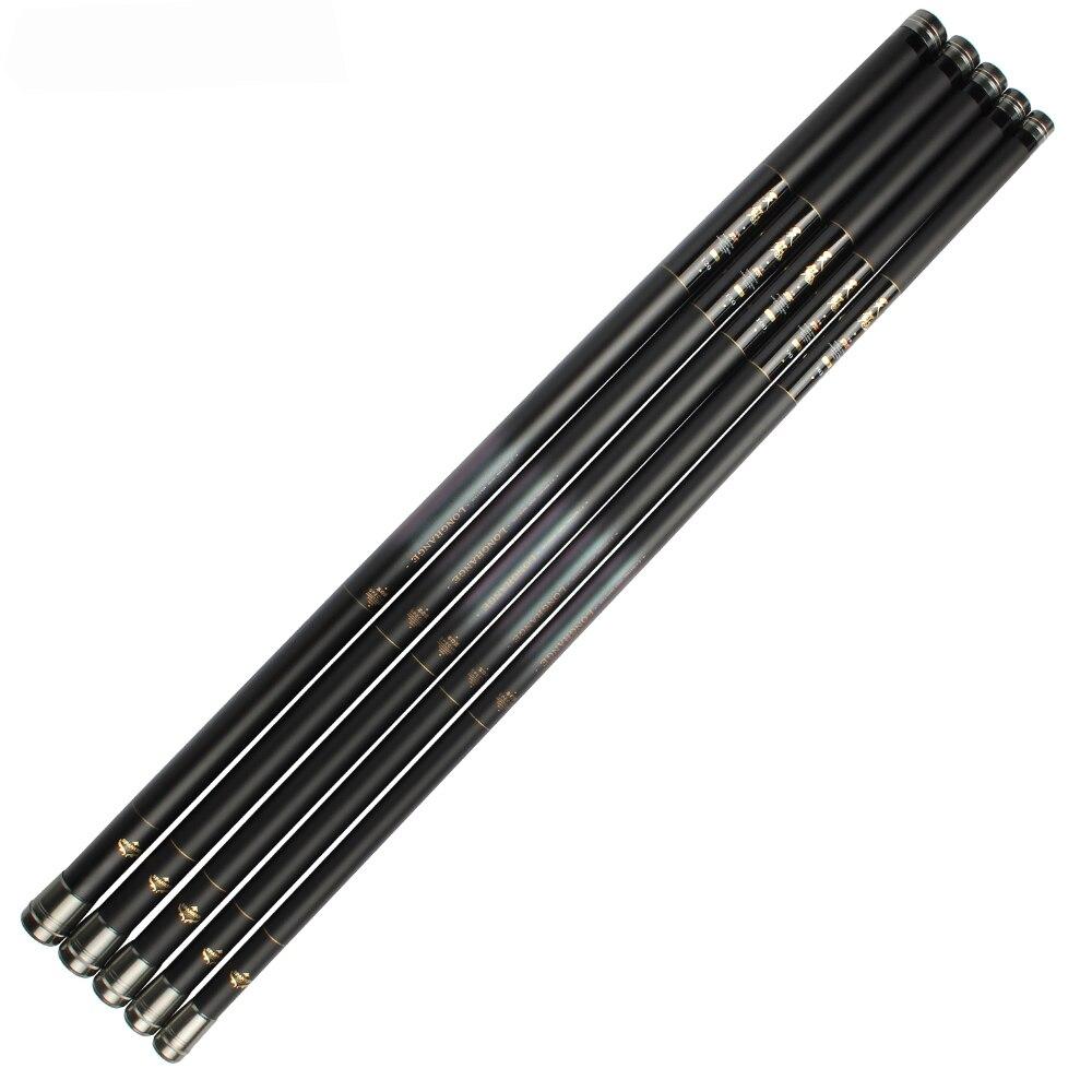 Carbon Fiber Telescopic Fishing Rod Ultra Long Hard Hand Pole 9M-12M