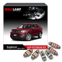 Wolflamp 13pcs Super Bright White Led Interior Car Lights For 2017 Ford Explorer Map Light Door Lamp License Plate Bulb