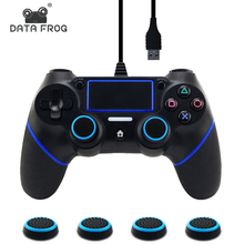Data Frog USB Wired Controller For Sony PS4 Playstation 4 Dualshock 4 Gamepads Multiple Vibration Joystick