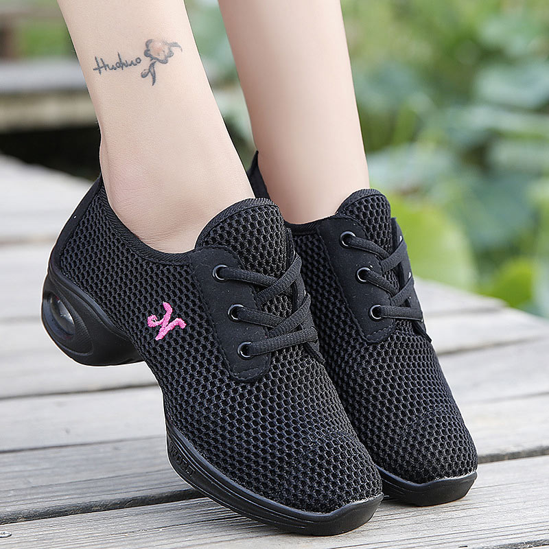 Women's  Jazz Dance Shoes Girls Sports Feature Shoes Ladies Dance Sneakers Mesh Breathable Modern Dancing Shoe Female  Zapatos