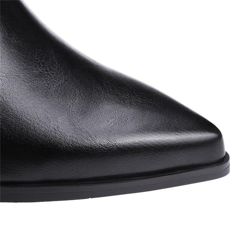 Nieten Enmayer Spitz Schuhe Ankle With Fur Herbst Schwarz gray black Stiefel Frau winter Große Gelb Fur 34 Black 43 gray Sexy Slip Für Größe Frauen auf yellow Grau drg6PrvA