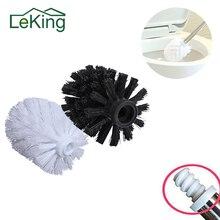 LeKing reemplazo Universal cabeza de escobilla de baño titular blanco negro limpio herramientas de repuesto Toiletborstel accesorios de baño de casa