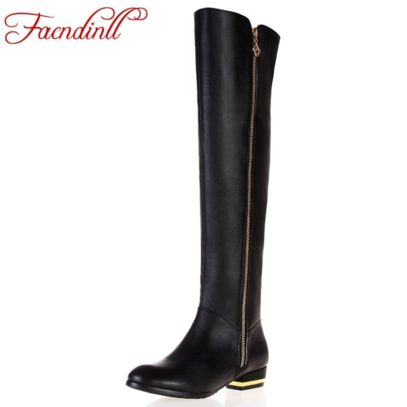 FACNDINLL sexy ladies casual shoes women knee high boots black autumn winter boots thick heels platform winter cozy snow boots facndinll winter shoes fashion woollen round toe warm snow over the knee boots flat platform heels women sexy ladies dress boots