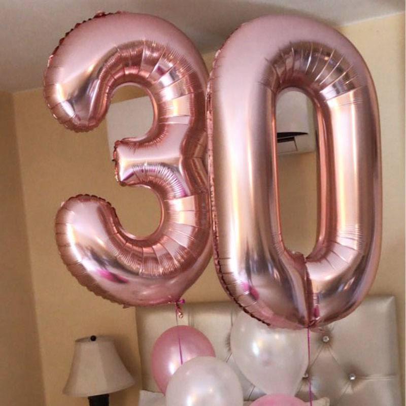 """Age 16,18,21 Birthday Party Number 16/"""" Gold Silver Foil Balloon Air Deco baloon"""
