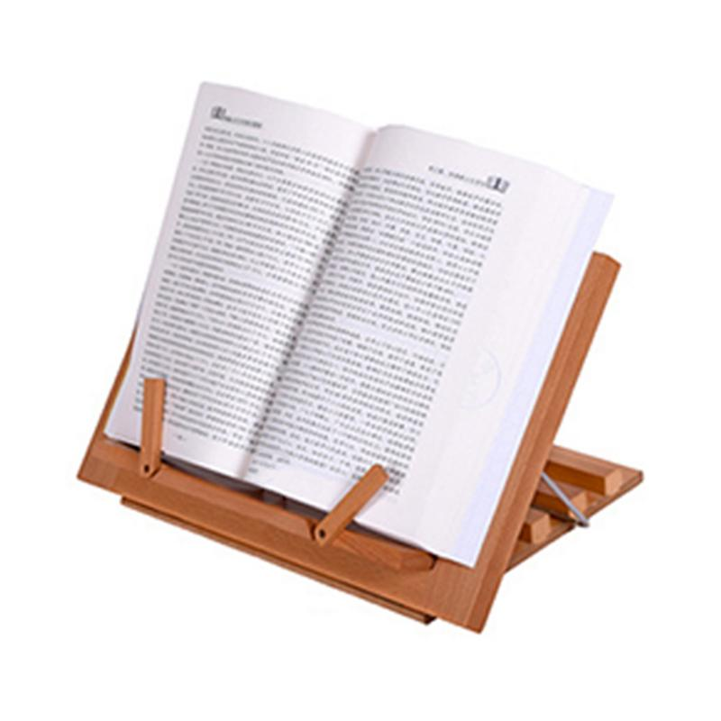 High Quality Wooden Easel Book / Ipad / Notebook Stand Recipe Holder Reading Frame School Office Supplies Storage Supplies clever guts recipe book