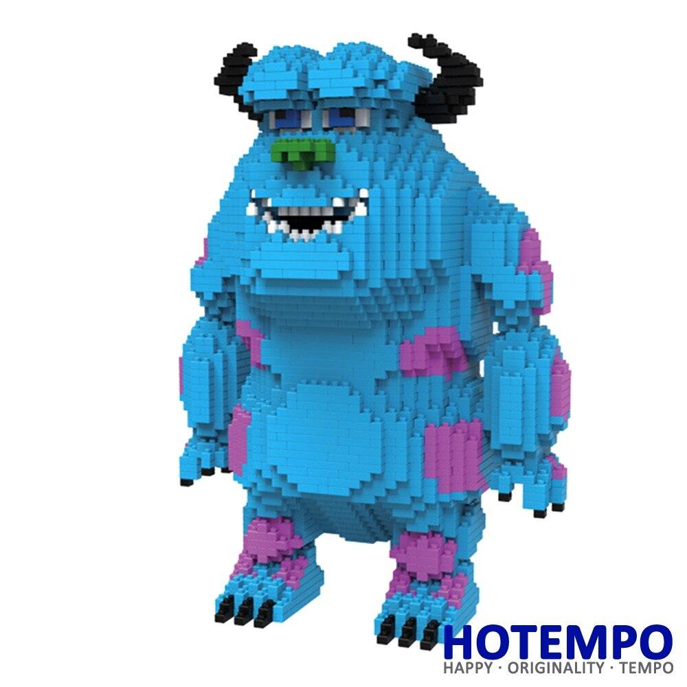 HOTEMPO 9059 1668Pcs Cartoon Big Size Sulley Monsters Blue long hair Monster DIY Magic Blocks Diamond Building Block Toys monsters of folk monsters of folk monsters of folk