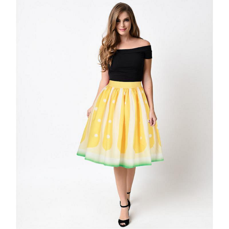 Popular Yellow Flare Skirt-Buy Cheap Yellow Flare Skirt lots from ...