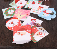 160pcs Set Merry Christmas Greeting Card Various Patterns Santa Elk Card Party For Festival Gift Mini