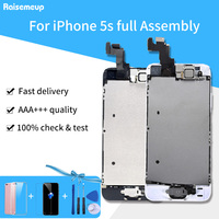 Complete LCD Full Set LCD For iPhone 5S A1453 A1457 A1518 A1528 A1530 A1533 Screen Display Replacement +Front Camera Home Button