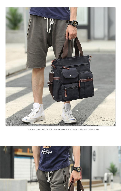HTB1DRYFeqSs3KVjSZPiq6AsiVXav Jorgeolea Men Canvas Business Briefcase Versatile Casual Handbag For Men Travel Satchel E502