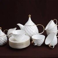 15 европейских золотая голова кофейная чашка послеобеденный чай набор костяного фарфора чашка кофе блюдо