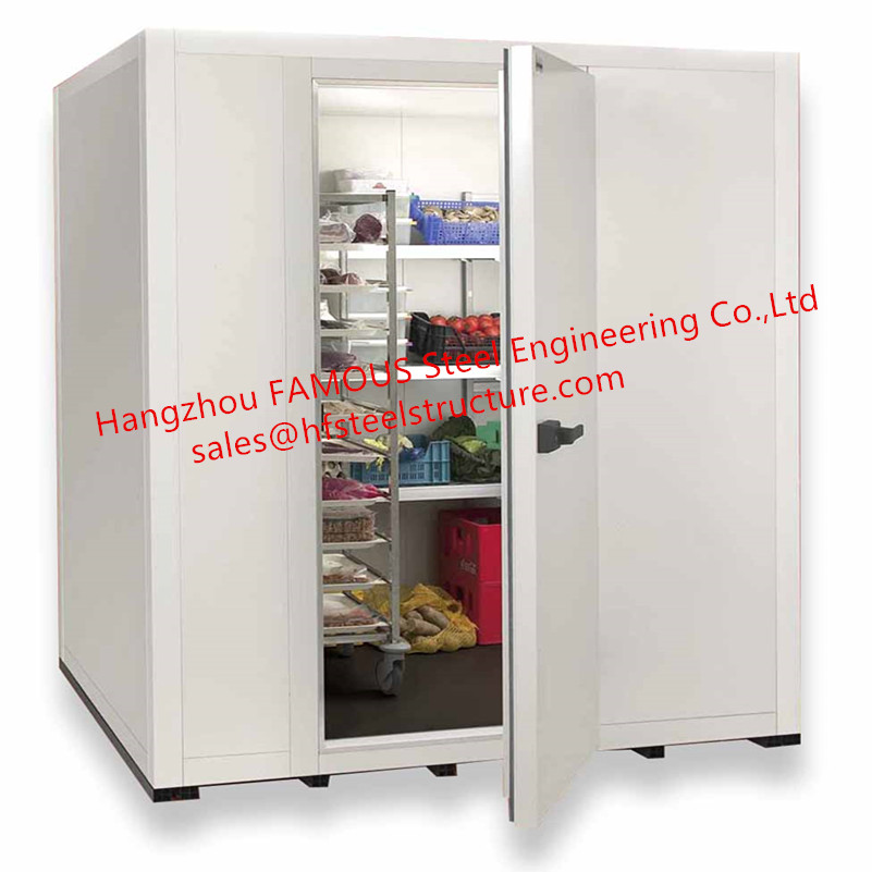 Commercial/Industrial PU Panel Cold Room Walk-in Freezer Room For Storage Meat Seafood And Fruit