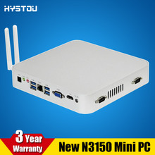HYSTOU Media Center Mini PC Fanless HTPC Quad Core N3150 Celeron CPU 2.08GHz Windows