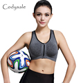 Codysale Casual Fitness Bras Women Zipper Shockproof Bra Exercise Padded Bra Push Up Seamless Bras Workout No Rims 3 Color