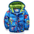 Occident Winter Down Jackets Boys And Girl  Whiter Duck Down Short Hooded Thicken Warm Character Down & Parkas Hot Sale