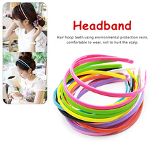 Solid Satin Covered Headband For Kid Girls Width Candy Color Hair Accessories Hoop Resin Hairbands Girl hair