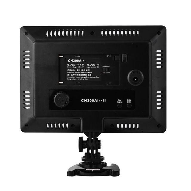 18W CN300 CN-300 Air Pro caméra LED lumière vidéo 5500K chaussures chaudes pour Canon EOS 1200D 1300D 550D 650D 750D 800D 70D 80D 7DII 5DIV